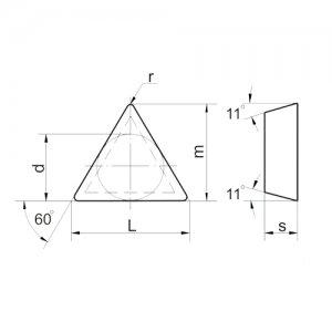 Пластина твердосплавная 01311-16Т308 Т15К6
