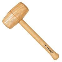 Киянка дерев'яна, ручка з дерева 70 мм (Topex, 02A057)