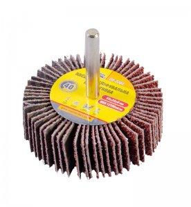 Круг шліфувальний пелюстковий Р40, 60*20 мм зі стержнем 6 мм (Mastertool, 08-2264)