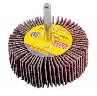 Круг шліфувальний пелюстковий Р60, 60*20 мм зі стержнем 6 мм (Mastertool, 08-2266)