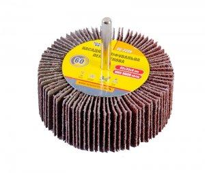 Круг шлифовальный лепестковый Р60, 80*30 мм со стержнем 6 мм (Mastertool, 08-2286)