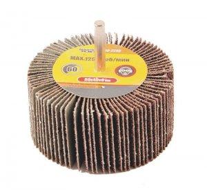 Круг шлифовальный лепестковый Р60, 80*40 мм со стержнем 6 мм (Mastertool, 08-2296)