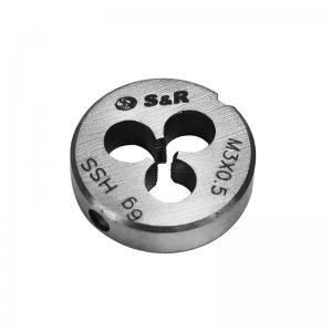Плашка М 3 х 0,5 мм 6g HSS (S&R, 111201003)