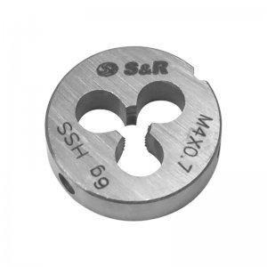 Плашка М 4 х 0,7 мм 6g HSS (S&R, 111201004)
