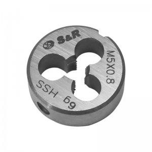 Плашка М 5 х 0,8 мм 6g HSS (S&R, 111201005)