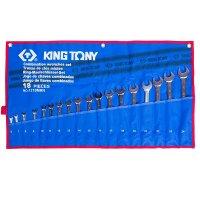 Набор ключей комбинированных 18 шт. 6-24 мм, чехол с теторона (KING TONY, 1218MRN)