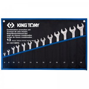 Набор ключей комбинированных 13 шт. 6-24 мм, супер-легкие (KING TONY, 12D13MRN)