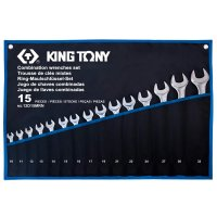 Набор ключей комбинированных 15 шт. 10-32 мм, супер-легкие (KING TONY, 12D15MRN)