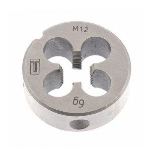 Плашка М 12 (1,75) инструментальная сталь (Сибртех, 77032)