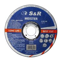 Круг отрезной 125x0,8x22 по металлу и нержавеющей стали S&R Meister A 60 S BF
