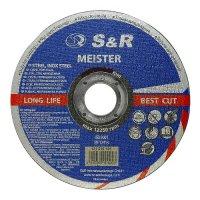 Круг отрезной 115x1,2x22 по металлу и нержавеющей стали S&R Meister A 46 S BF
