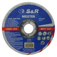 Круг отрезной 125x1,2x22 по металлу и нержавеющей стали S&R Meister A 46 S BF