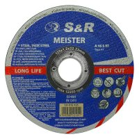 Круг отрезной 125х1,2х22 по металлу и нержавеющей стали S&R Meister A 46 S BF