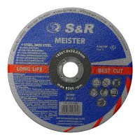 Круг отрезной 180x1,6x22 по металлу и нержавеющей стали S&R Meister A36S BF