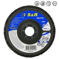 Круг зачистной лепестковый 125x22.2, S&R Meister Z40