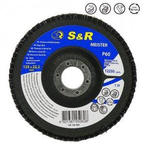 Круг зачистной лепестковый 125x22 S&R Meister Z60