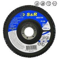 Круг зачистной лепестковый 125x22.2, S&R Meister Z120