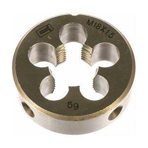 Плашка М 18 х 1,5 инструментальная сталь (Сибртех, 77048)
