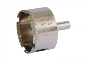 Сверло трубчатое с алмазным напылением для стекла и плитки 50 мм (GRANITE, 2-01-250)