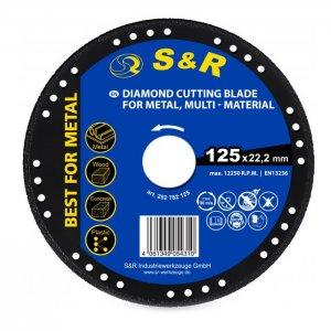 Круг алмазный 125 x 22.2 мм по металлу, универсальный PROFI (S&R, 252782125)