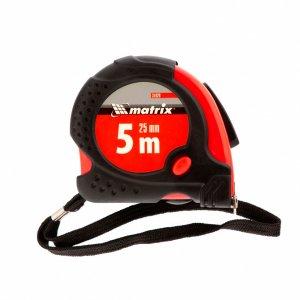 Рулетка 5 м х 25мм, прогумований корпус, зачіп з магнітом, Status magnet fixation (MTX, 310299)