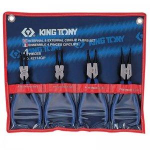 Набір знімачів стопорних кілець 4 предмета (KING TONY, 42114GP)