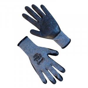 """Перчатки хлопчатобумажные серые с черным неполным латексным покрытием """"б"""" Seven арт.69249"""