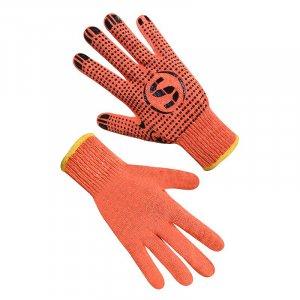 Перчатки трикотажные оранжевые с ПВХ точкой, Seven арт.69583