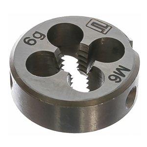 Плашка М 6 (1,0) инструментальная сталь (Сибртех, 77017)