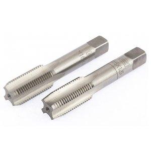 Мітчик ручний комплектний М 16 х 1,5 комплект з 2 шт (Сибртех, 76644)