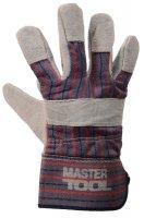 """Перчатки комбинированные из замши и ткани, цельная ладонь, 10,5"""" (Mastertool 83-0702)"""