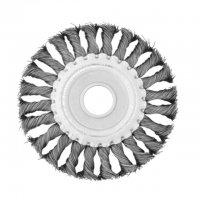 Щітка дискова 115х22 мм, плетений дріт (Intertool, BT-7115)