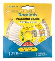 Алмазный круг NovoTools Basic 125 мм*7 мм*22,23 мм Турбоволна (DBB125/TW)