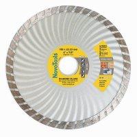 Алмазный круг NovoTools Basic 150 мм*7 мм*22,23 мм Турбоволна (DBB150/TW)