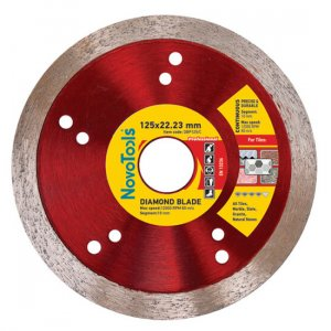Алмазный круг NovoTools Professional 125 мм*10*1,7 мм*22,23 мм Плитка (DBP125/C)