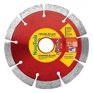 Алмазный круг NovoTools Professional 125 мм*10 мм*22,23 мм Сегмент (DBP125/S)