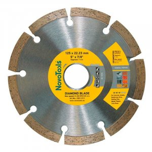 Алмазный круг NovoTools Standart 125 мм*7 мм*22,23 мм Сегмент (DBS125/S)