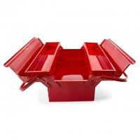 Ящик для инструментов металлический 450мм, 3 секции (Intertool, HT-5043)