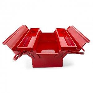 Ящик для інструментів металевий 450мм, 3 секції (Intertool, HT-5043)