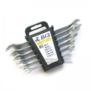 Набор ключей рожковых 6 шт. ВИЗ-6 (6-17мм) пластмассовый держатель, Винница