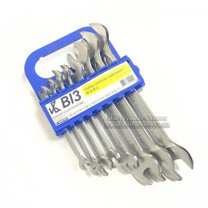 Набор ключей рожковых 8 шт. ВИЗ-8А (7-24мм) пластмассовый держатель, Винница