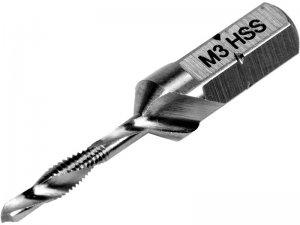 """Свердло-мітчик М 3 х 0,5 мм, HSS M2, L=36/5 мм, HEX-1/4"""" (YATO, YT-44840)"""
