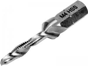 """Сверло-метчик М 4 х 0,7 мм, HSS M2, L=39/5 мм, HEX-1/4"""" (YATO, YT-44841)"""