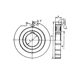 Фреза дискова пазова Ф 80х12х27 Р12