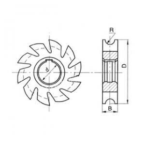 Фреза полукруглая вогнутая Ф 63 R4 Р6М5
