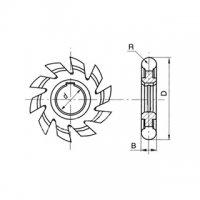 Фреза полукруглая выпуклая Ф 50 R2,5 Р6М5