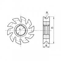 Фреза полукруглая вогнутая Ф100 R10 Р6М5