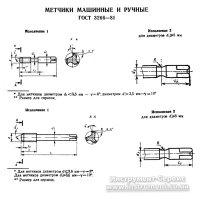 Метчик м/р комплектный М 6,0 (1,0) Р6М5 исп.2 Н2 Львов
