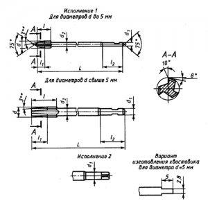 Метчик гаечный М 24 (3,0) Р6М5 L=290 вн/з