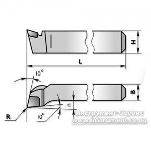 Різець підрізний відігнутий 16х12х100 Т15К6 (ЧІЗ) 2112-0011
